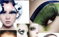 Wholesale new Pairs Gorgeous exaggeration party Feather False Eyelash Eyelashes