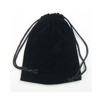 al por mayor bolsas de regalo bolsas-El regalo negro de la joyería del terciopelo empaqueta las bolsas para el regalo 100pcs B03 de la joyería que envía libremente