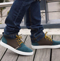 Wholesale Popular men s low shoes mixed colors woven British style trend board