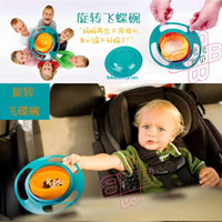 Wholesale Gyro Bowl Universal Baby Bowl Rotating Flying Saucer Bowl Toys Baby Bowl UFO Bowl Training Bowl