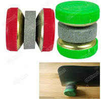 Wholesale Hot SellinG Knife Sharpener Stone Abrader Two Grinding Wheels