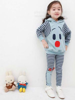 Wholesale Girl Cute Cartoon Set Sweatshirts Sport Suit Hoodies Pants Children Outfits Kids Hoody Hoodie Sweats