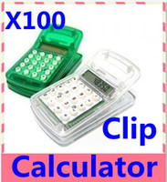 Wholesale FreeShipping Clip Calculator mini calculator gift calculator counters