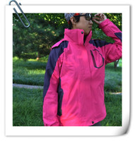 Wholesale Outdoor jackets Women waterproof jackets outwear new style jackets in jackets pink blue
