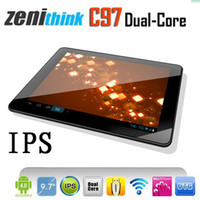 9.7 inch 9.7 inch android 4.0 - Zenithink C97 Tablet PC quot IPS Screen Cortex A9 Dual Core GHz Android GB Dual Camera HDMI