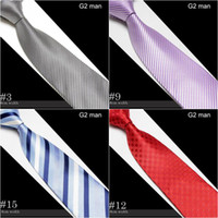 Wholesale men s ties striped necktie men neck tie cravat neckwear designs for choose