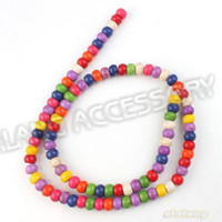 Wholesale Hot Oblate Multicolor Loose Gemstone Turquoise Beads Fit Handcraft Making string