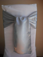 Wholesale Silver Satin chair sash chair bow for chair covers chair sashes New product