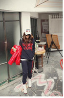 Wholesale Women s Hoodies Letterman Hoody Pant Long Sleeve Fashion Thick Jogging Suit Sport sui