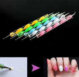Wholesale New Set of Way Nail Art Dotting Manicure Tools Painting Marbleizing Pens
