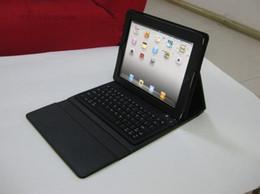 Bluetooth sans fil Bluetooth de qualité, couverture de cas de clavier de bluetooth pour iPad2 ipad 3 à partir de ipad2 étui en cuir clavier fabricateur