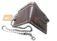 Plain handbag low price - Cool Handbags Purse Wallet Men Rivet Zipper Chain PU Low Price PL2009