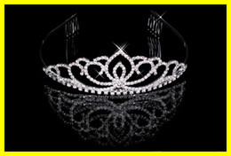Wholesale Elegant Hot Rhinestone Wedding Crown Tiara With Comb Elegant Bridal Prom Jewelry