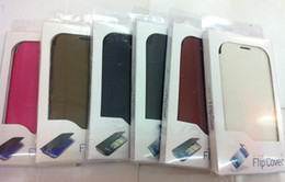 Wholesale Flip Leather Case Cover for Samsung Galaxy S3 S SIII i9300 with Retail Package