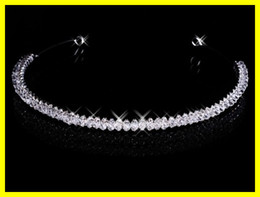 Wholesale Cheap Magnetic Diamond Rhinestone Wedding Crown Hair Band Tiara Bridal Prom Jewelry