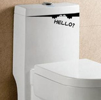 Wholesale Toilet Monster Hello Bathroom Decal Funny vinyl sticker wall art