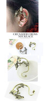 Wholesale 5 Left Vintage Rock Punk Temptation Metal Dragon Bite Ear Cuff Wrap Earring sx207
