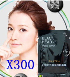 Wholesale 300pcs Deep NOSE PORE CLEANSINGDeep Cleansing Black MASK Clean Blackhead remove facial mask