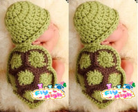 Wholesale Manual baby wool hat Animal modelling baby photography props turtle set