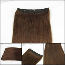 Wholesale One Piece Clip In On Human Hair Extensions inch clips g piece Accept Custom Order