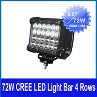 Wholesale 6 quot W CREE LED W Working Light Bar Off Road SUV ATV WD Spot Flood Combo Beam V lm IP67 Quad Row JEEP Driving Fog Head Lamp