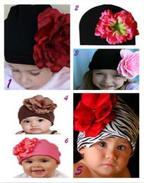 50pcs Cute Beanie Infant Toddler Baby Girls Knit Cotton Hats Children Trendy Flower Christmas Caps