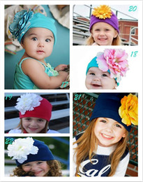 5pcs Beanie Infant Toddler Knit Cotton Cap Baby Girls Trendy Flower Hat Daisy Peony Rose