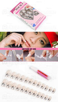 Wholesale 10 Set Pre Designed French Acrylic False Nail Full Cover Tips Nail Glue in a set tx243