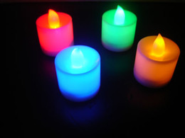 Wholesale Multi color LED Candle Light Lamp for Wedding Christmas Decoration
