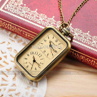 Wholesale Ladies Quartz Pocket Watch Pendant Necklace Womens Dual Time Vintage WPK040
