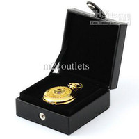 Wholesale Pocket Leather Watch Gift Box Case Cover Antique Pendant Lady Men Watch Display ZC097