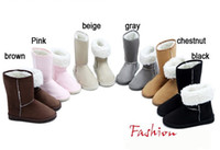 Half Boots Snow Boots Women Free shipping Winter Thicken Short Plush Snow Boots Shoes For Women Black Coffee Gray Beige Brown Pi