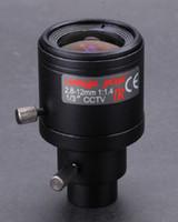 al por mayor cámara de la bóveda del cctv 12mm-2.8-12mm Lente CCTV IR MegaPixel Vari-focal manual de la cámara del diafragma Lente M12 de la cámara para la cámara de la bóveda