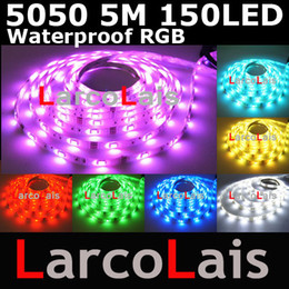 Waterproof RGB 5M 150 SMD 5050 Flexible LED Strip Light for Christmas Holiday Wedding 150LED Lights
