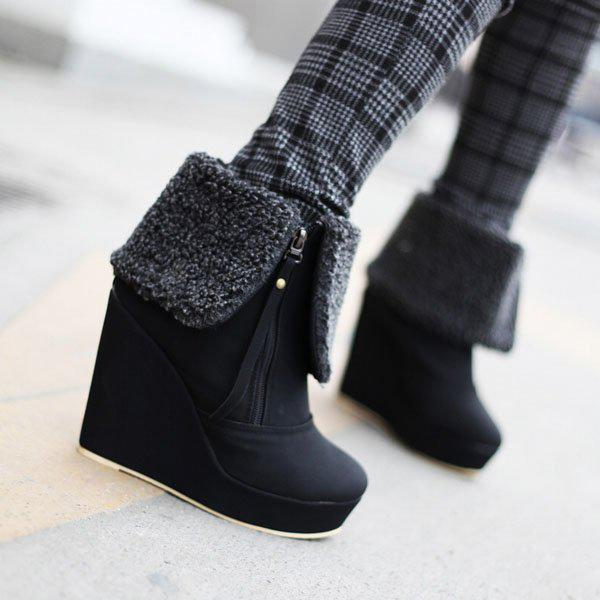 A19nasl New Fashion Women Wedge Ankle Boots High Quality Platform ...