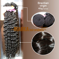 Wholesale 12 quot quot Brazilian virgin hair same direction human hair weft curly natural black g PC