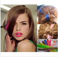 Wholesale 10 Drama Party Colored Clip Hair Extension Piece Multi color