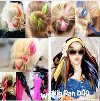 Wholesale 50 Drama Party Colored Clip Hair Extension Piece Multi color pink