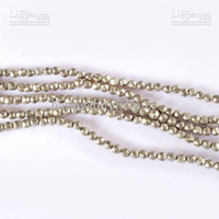 Wholesale 16 quot mm Pyrite natural gemstone faceted loose beads L597PV191