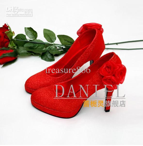 Bridal Shoe Women's Sexy High Heels Shoes Wedding Bridal Dress Shoes