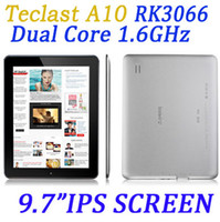 Wholesale DHL free Teclast A10 tablet pc Capacitive IPS Screen RK3066 Dual core Android Tablet PC