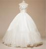 2013 Real picture Beading Handcirft Flower Beaded Ivory Wedding Dresses(Romanticweddinggown)