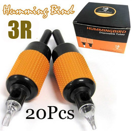 Wholesale 20x R Disposable Tattoo Grips Humming Bird Tube Sterilized quot mm Kits Machine Grips Top Grade