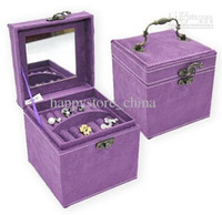 Wholesale Three gifts high end jewelry box mixed colour European style jewel case
