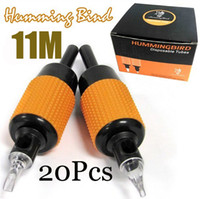 Wholesale 20x M Best Tattoo Machine Grips Humming Bird Tube Sterilized quot mm MAG Tips Size Kits Supply
