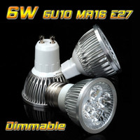 E27 6W Yes GU10 E27 6W Dimmable 4 LED Light LED Bulb Lamp LED Lighting Warm Cold Pure White LED Spotlight