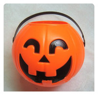 Wholesale 17 cm plastic halloween pumpkins lamp halloween decoration gift