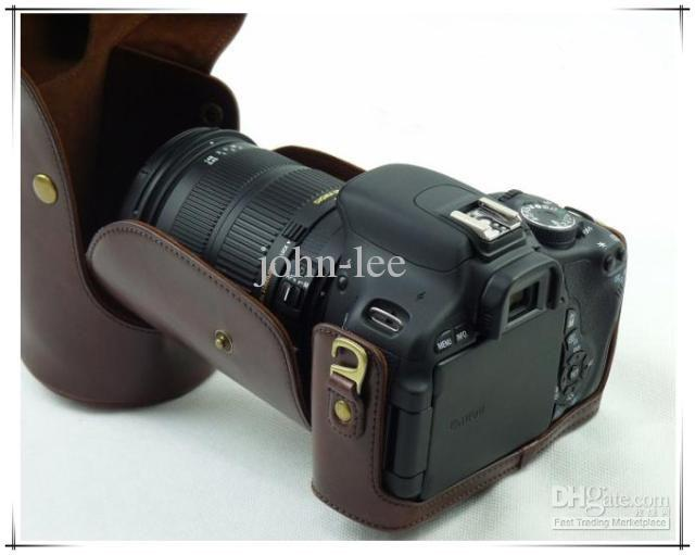 2017 eos 600d slr leather case bag for canon eos 600d 18 for Housse canon eos 600d