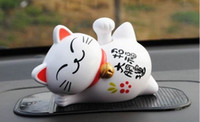 Wholesale Solar Cartone Series Car waved lucky cat furnishing articles automobile supplies