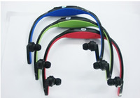 Wholesale fashion headset Wireless Sport MP3 Player with TF card slot colors